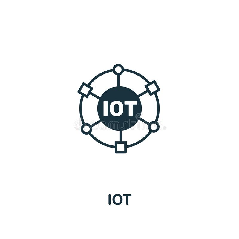 Iot icon. Premium style design, pixel perfect Iot icon for web design, apps, software, print usage royalty free illustration