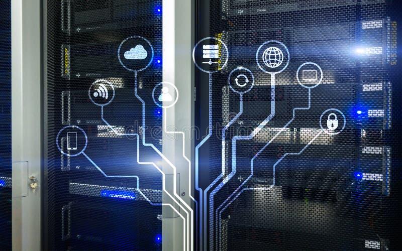 IOT, Internet das coisas, conceito da telecomunicação ilustração stock