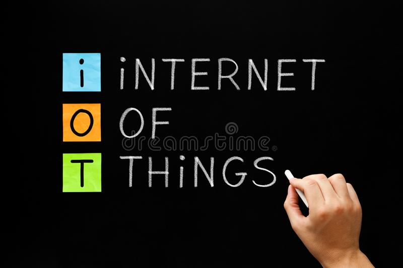 IOT - Internet Of Things Concept stock image