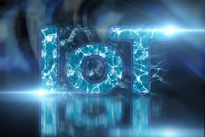 IOT, internet van dingen technologie voor mobiele draadloze connectiviteit Slimme stadstechnologie en digitaal netwerkconcept royalty-vrije stock afbeeldingen