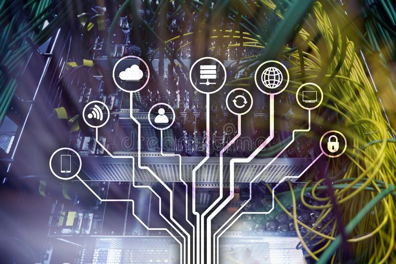 IOT, Internet von Sachen, Telekommunikationskonzept lizenzfreies stockbild
