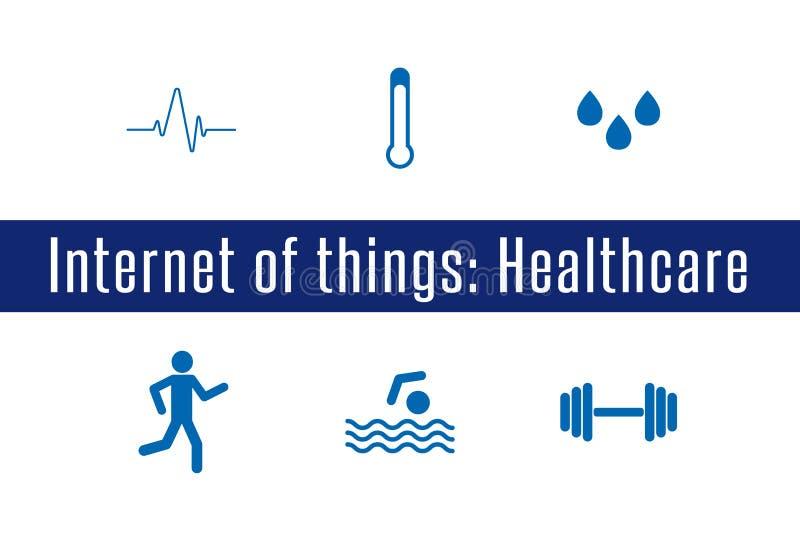 IoT - sjukvård vektor illustrationer