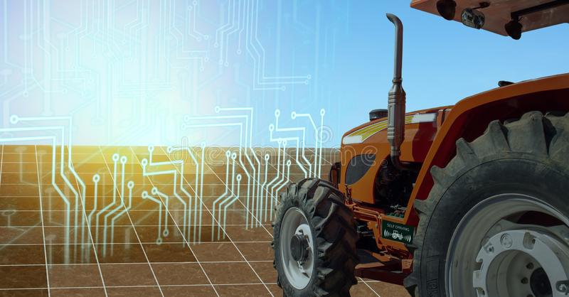 Iot smart farming, agriculture in industry 4.0 technology with artificial intelligence and machine learning concept. it help to im. Prove, categorized, specified royalty free stock photos