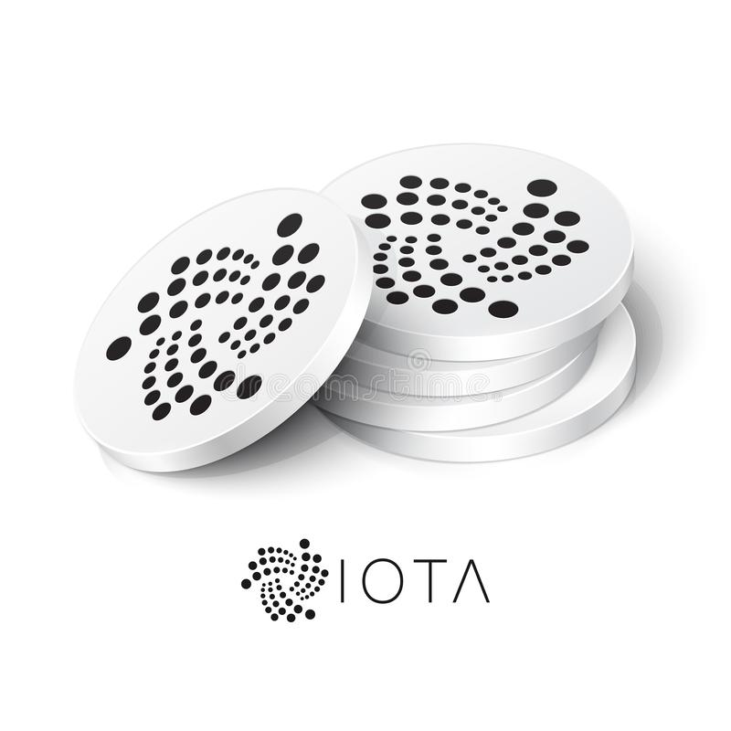 Free IOTA Cryptocurrency Tokens Royalty Free Stock Photos - 166779618