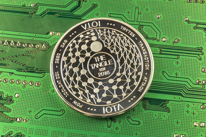 Iota is a modern way of exchange and this crypto currency stock photo