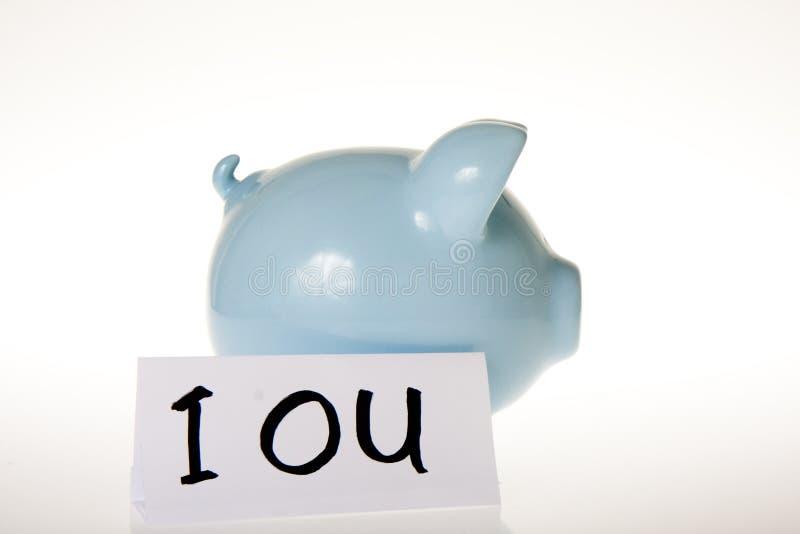 IOU存钱罐 库存照片