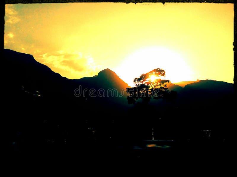 Iovely y puesta del sol perfecta en pavo foto de archivo libre de regalías