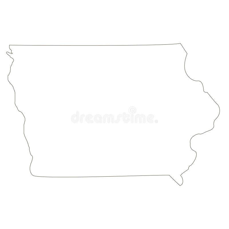 Iowa Κράτος του εδάφους της Αμερικής στο άσπρο υπόβαθρο διανυσματική απεικόνιση