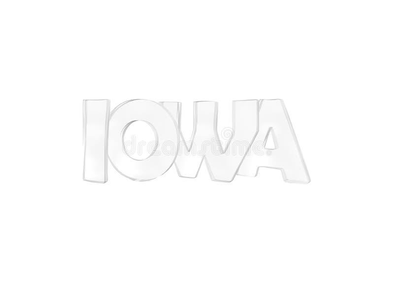 Iowa Οι απομονωμένες ΗΠΑ δηλώνουν τα ονόματα απεικόνιση αποθεμάτων