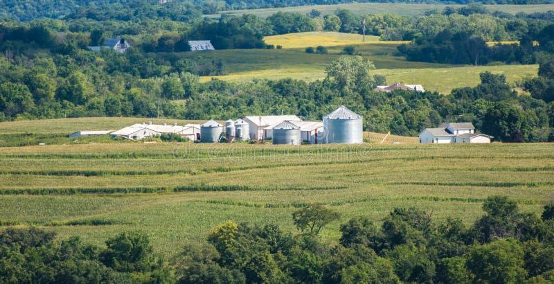 Iowa-Bauernhof lizenzfreies stockbild