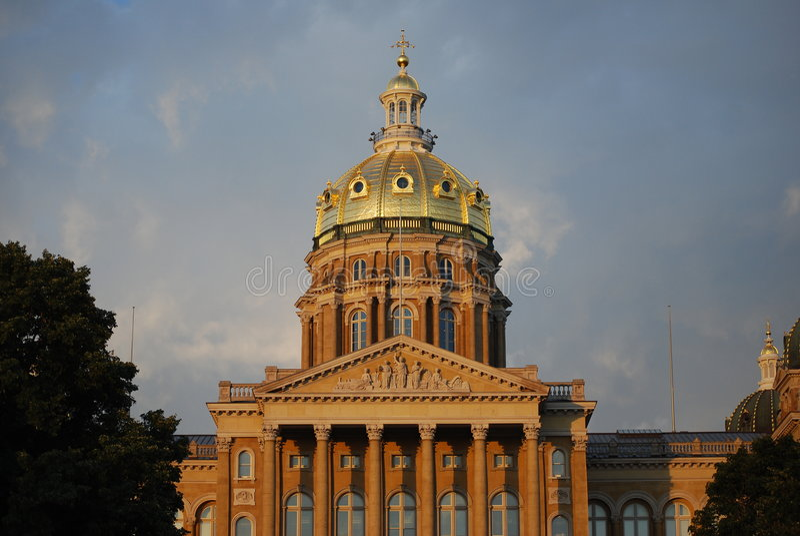 Iowa capitol stock photo