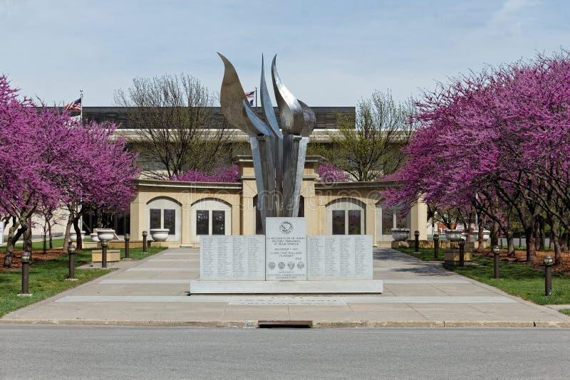 Iowa Capitol drugiej wojny światowa Powikłany pomnik fotografia royalty free