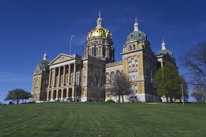 Iowa - capitolio del estado imagen de archivo libre de regalías