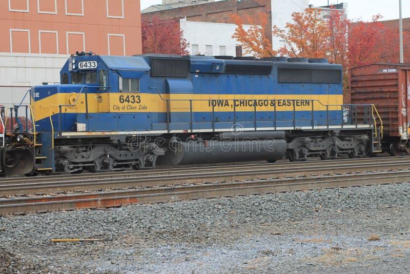 Iowa Chicago & östlig lokomotiv arkivfoton