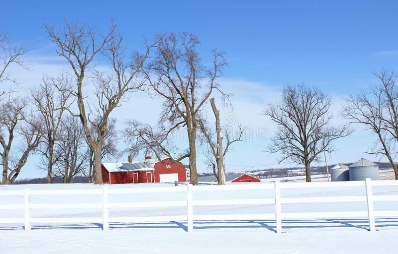 Iowa gospodarstwo rolne zdjęcie stock