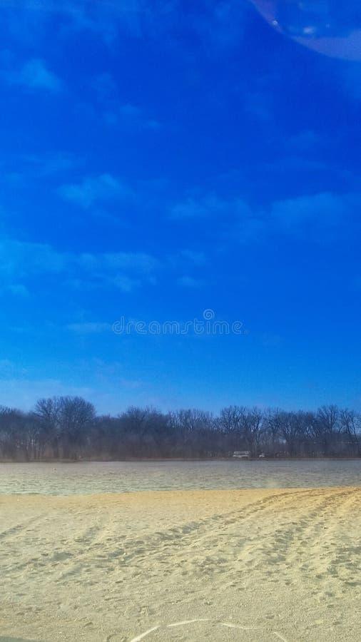 Iowa lake royalty free stock photo