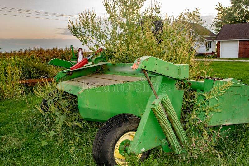 Iowa lantgårdutrustning arkivbilder