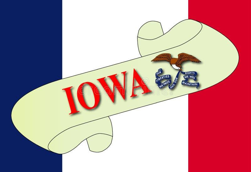 Iowa mapy ślimacznica ilustracja wektor