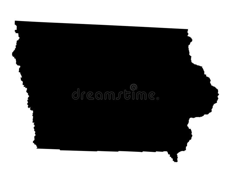 Iowa mapy sylwetka royalty ilustracja