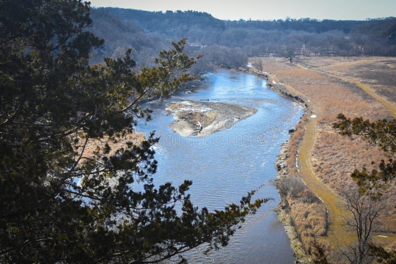 Iowa River Overlook, Decorah, Iowa - Phelps Park stock photos