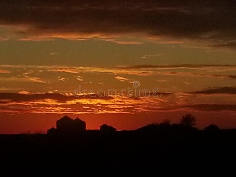 Iowa Skys absolutely beautiful royalty free stock photography