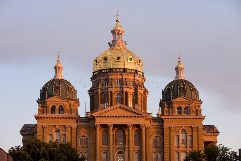 Iowa state capitol royalty free stock photos