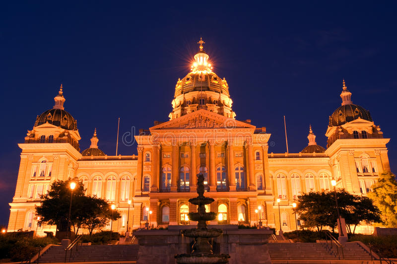 Iowa state capitol royalty free stock images