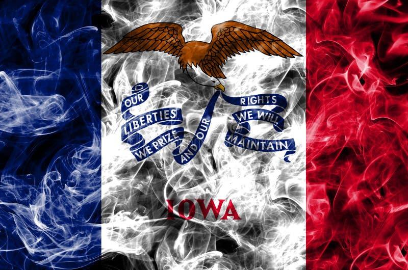 Iowa state smoke flag, United States Of America royalty free stock photos