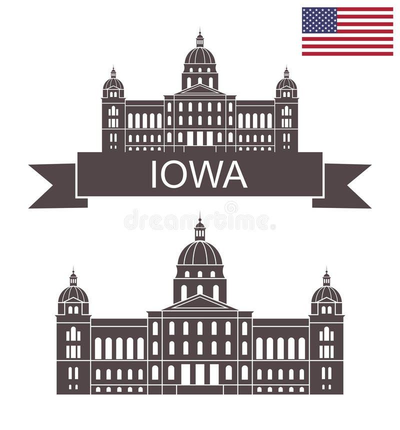 iowa state Iowa stolica kraju royalty ilustracja