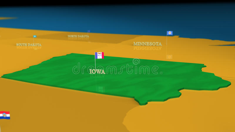 Download Iowa - United States Series With Flags Royalty Free Stock Photo - Image: 18174335