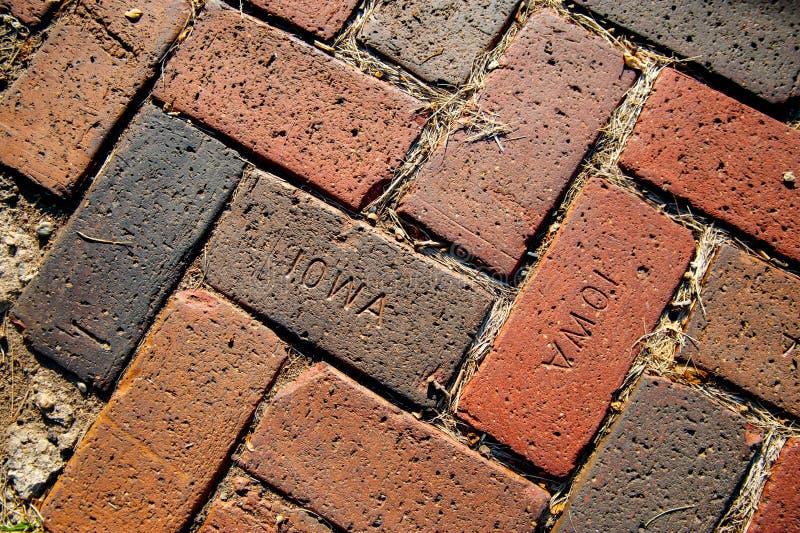IOWA zingt op de steen in Iowa, Amerika Amerika is een continent waar Amerikaan hoofdzakelijk levend in internationale de zomerti royalty-vrije stock foto