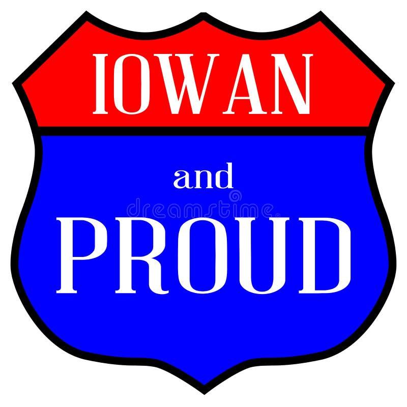 Iowan e orgulhoso ilustração royalty free