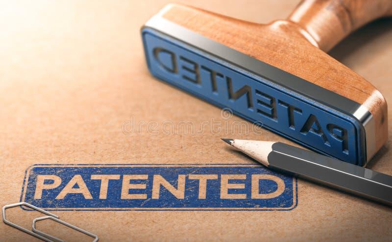 IP,知识产权专利概念 向量例证