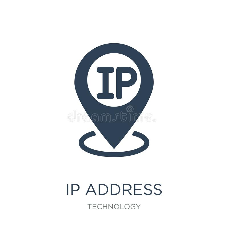 ip address point locator icon in trendy design style. ip address point locator icon isolated on white background. ip address point vector illustration