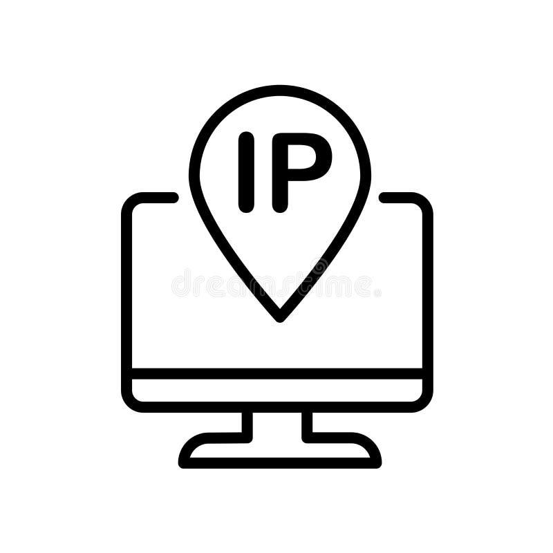 IP- addressikone lokalisiert auf weißem Hintergrund vektor abbildung