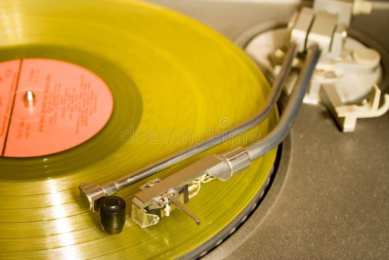 ip recordplayer żółty obrazy stock
