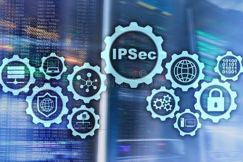 IP Security. Data Protection Protocols. IPSec. Internet and Protection Network concept. IP Security. Data Protection Protocols. IPSec. Internet and Protection royalty free stock photography