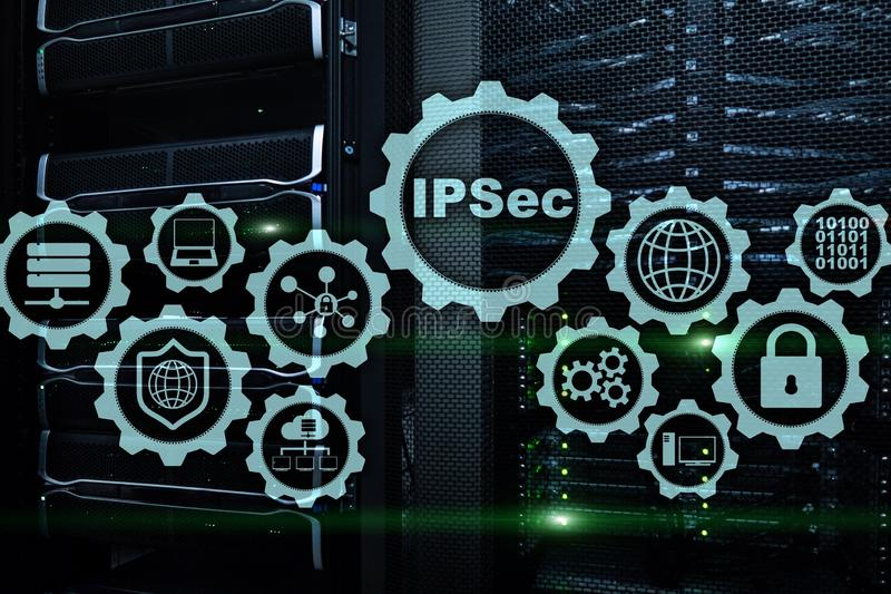 IP Security. Data Protection Protocols. IPSec. Internet and Protection Network concept. IP Security. Data Protection Protocols. IPSec. Internet and Protection royalty free stock image