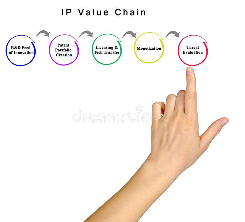 IP Value Chain royalty free stock images