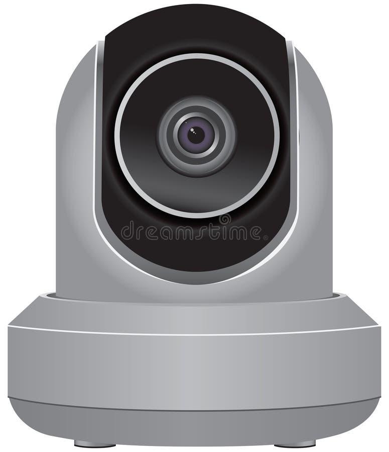 IP Veiligheidscamera royalty-vrije illustratie
