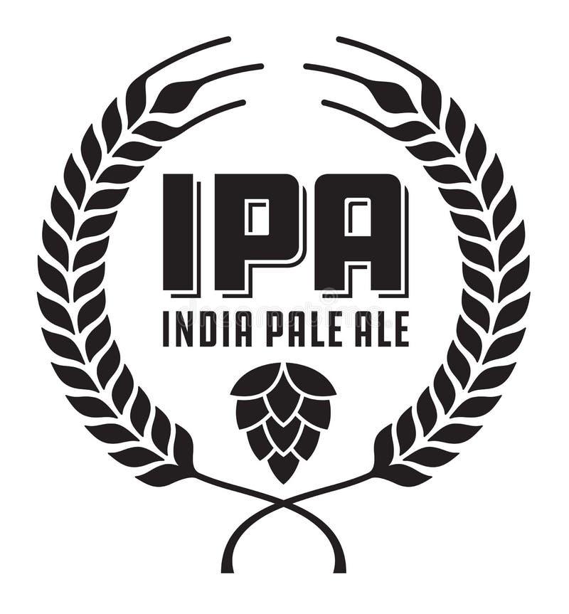 IPA o la India Pale Ale Badge o etiqueta libre illustration
