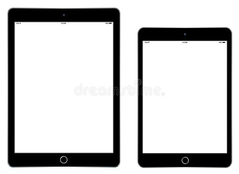 IPad空气2和iPad微型3 库存例证