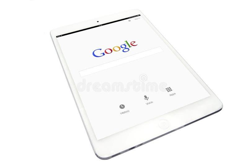 IPad и Google Яблока стоковое изображение rf