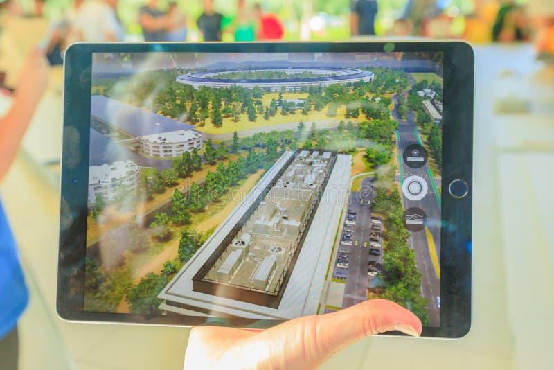 IPad парка Яблока стоковое фото