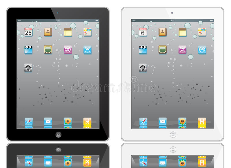 Ipad 2 illustration stock