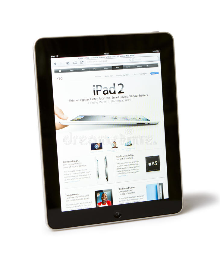 iPad 2 d'Apple photo libre de droits