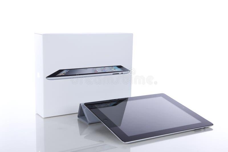 iPad 2 de Apple con la cubierta elegante y el rectángulo original imagenes de archivo