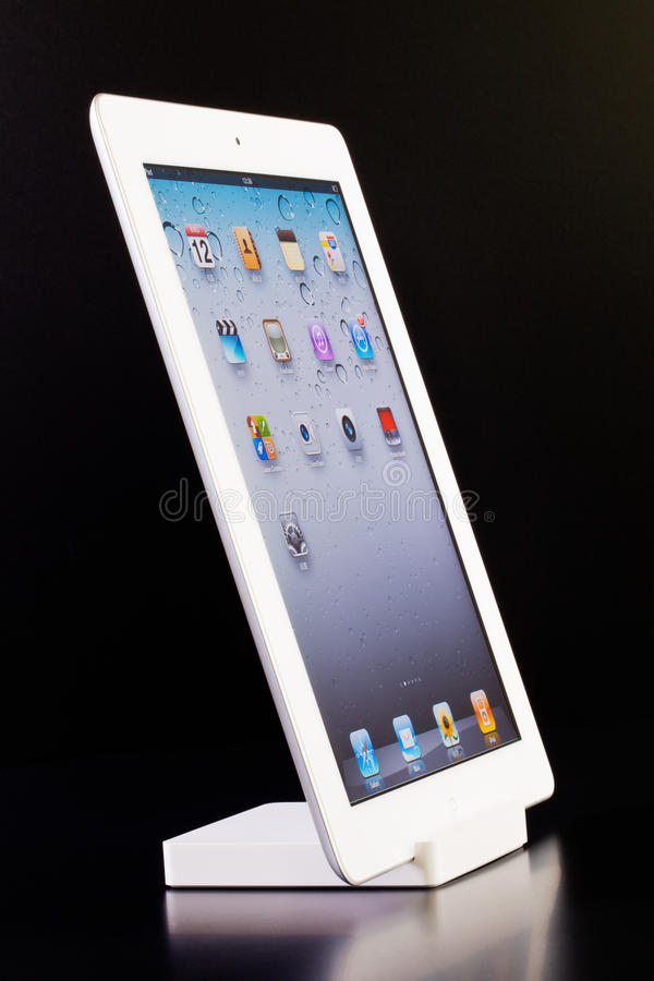 Download IPad 2 on dock editorial stock photo. Image of device - 20700068