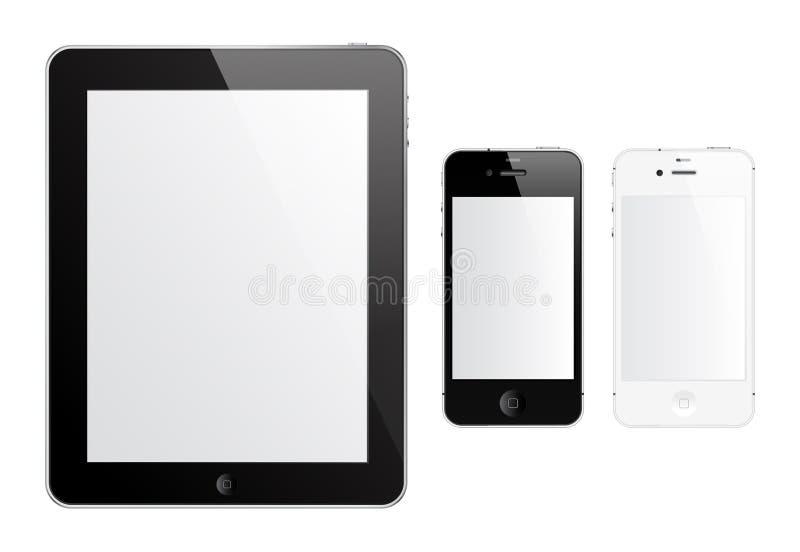 IPad 2 e iPhone 4S ilustración del vector