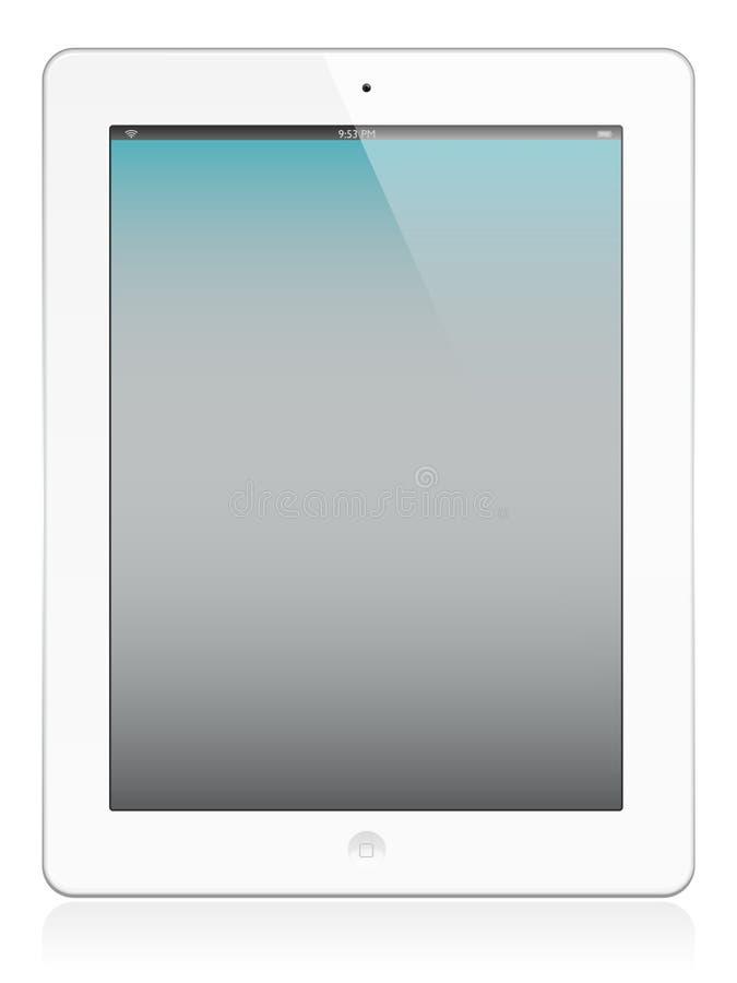 Ipad 2 nel bianco illustrazione di stock